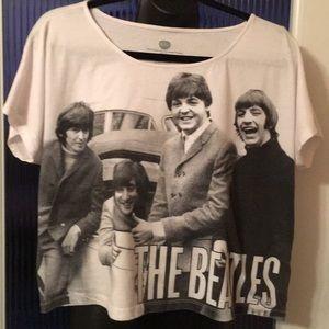 Beatles crop tee shirt